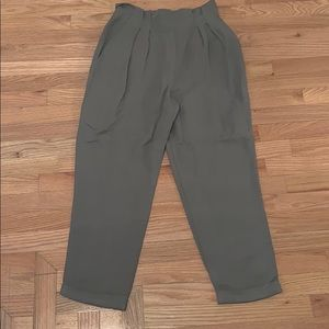Army Green Flowy Pants